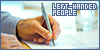 Left-handed people: